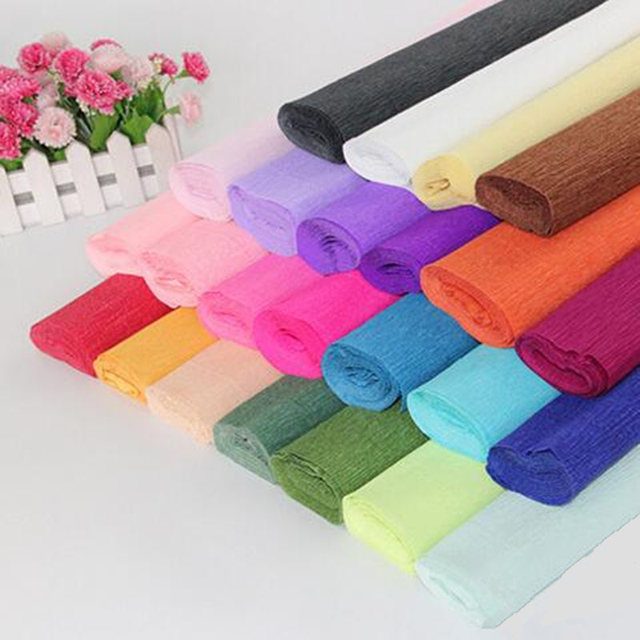 1 roll 50 x 250cm crepe paper flower making wrapping diy 1 roll 50 x 250cm crepe paper flower making wrapping diy scrapbooking craft crinkled paper gifts mightylinksfo