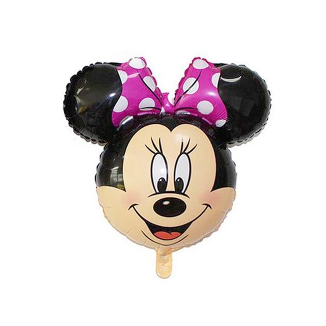 товар 1pc Mini Mickey Minnie Mouse Head Foil Balloon Kids Birthday