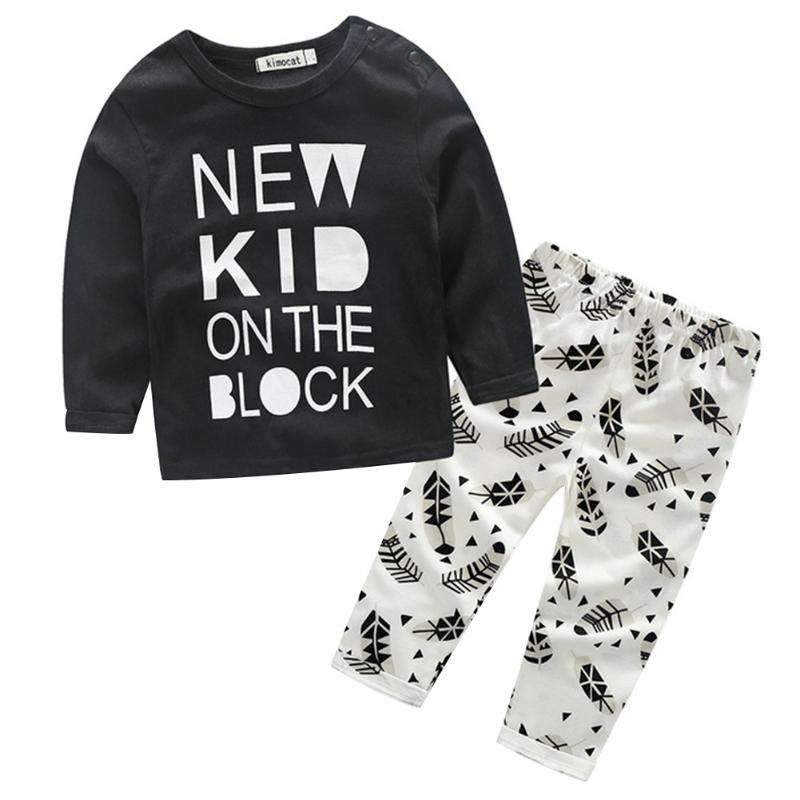 2018 Spring Baby Boy Clothing Set Cotton Long Seeve T-shirt Pants Fashion Baby Boys Cothes Set 2pcs Suit Kids Outfits ...
