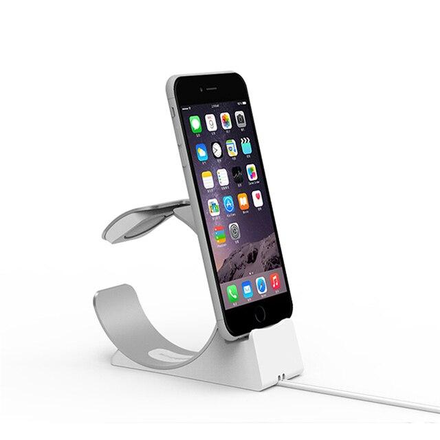 Base de carga para apple watch stand para iphone se 5s 6 6 s 7/Plus Cargador Del Soporte Del Muelle Estación de Carga Del Muelle Del Soporte Del Cargador