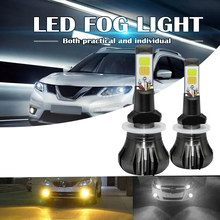 Dual Color in 1 160W 880 881 LED Fog Light Bulbs 3000K Yellow 6000K White Colors