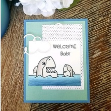 JC Shark Rubber Stamps and Metal Cutting Dies for Scrapbooking Ducks Craft Cut Decoration Cards Making Stencil Album Sheet