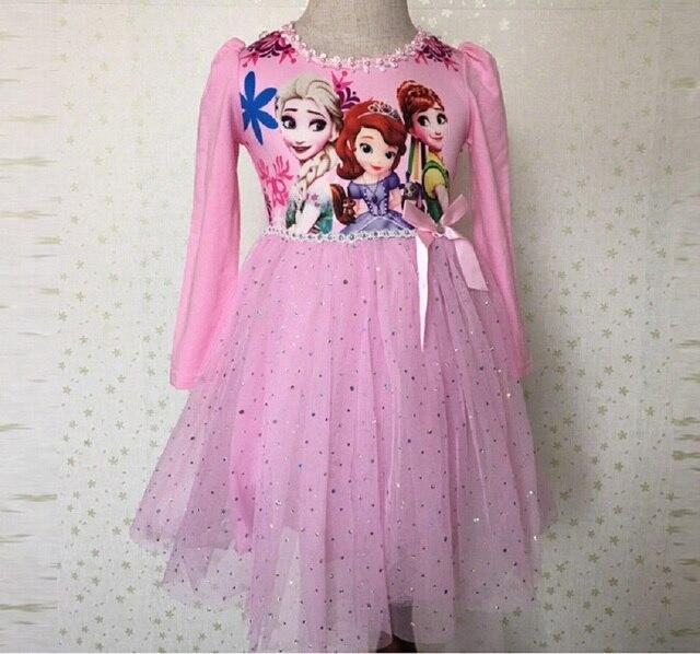 33bfeb3311 Baby Dziewczyny Ubierają Anna Elsa Disfraz Gorączka Elza Kostium Vestido  Roszpunka Princess Sofia Sukienka Infantil Disfraces