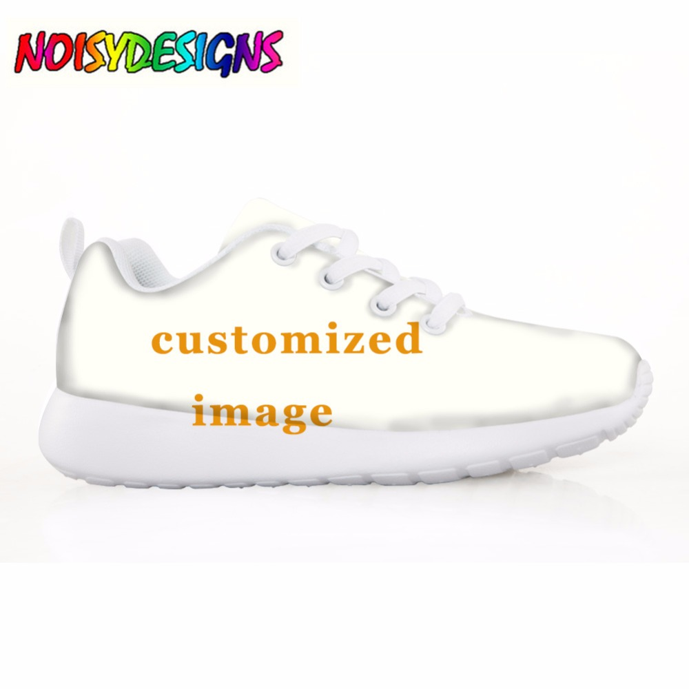 NOISYDESIGNS Custom 3D Print Children Sneakers Casual Flats Shoes Summer Comfort Air Mesh Shoes For Kid Girls Boys Your Image