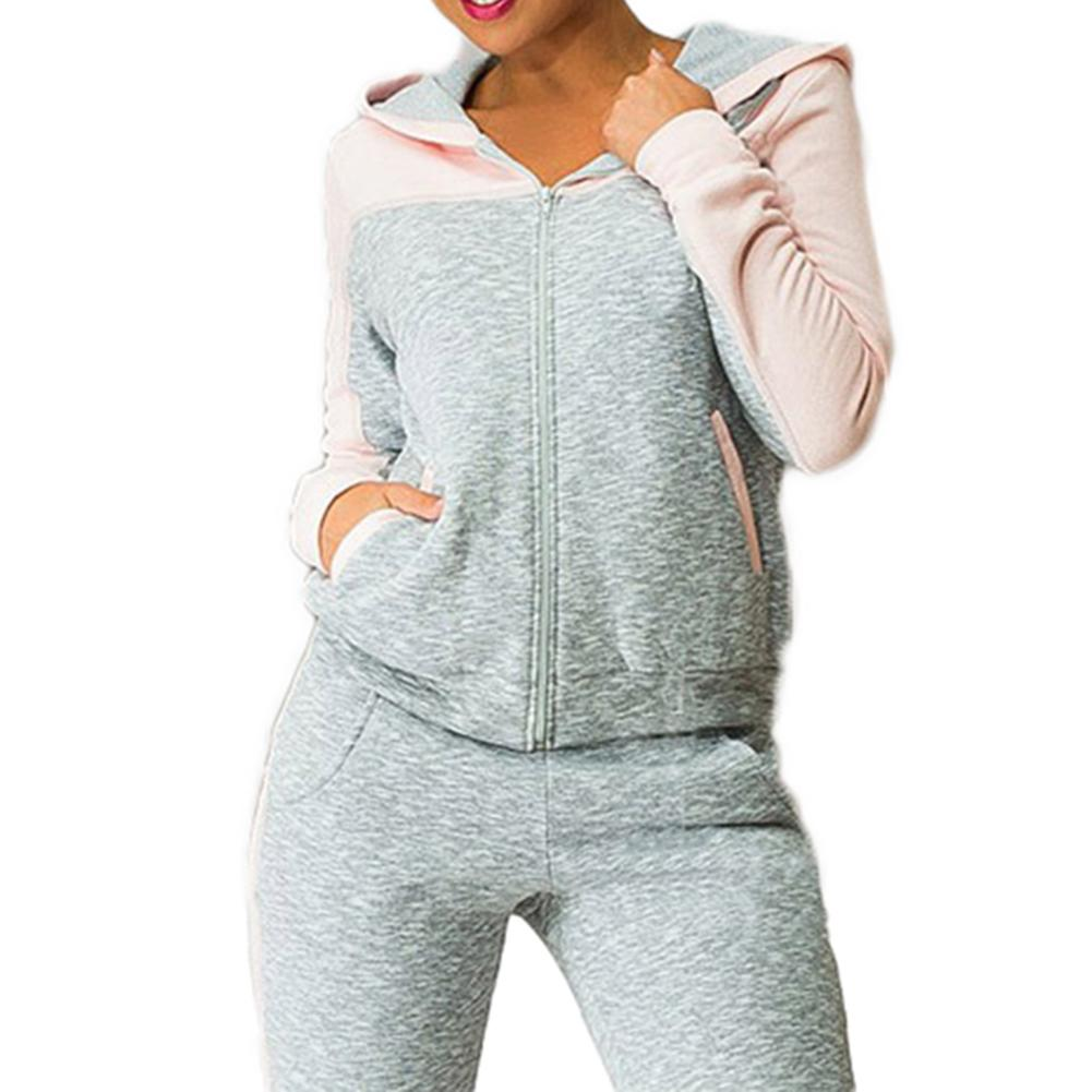 Women Running Sports Set Tracksuit Sportswear Hooded Long Sleeve Running Jacket Workout Pants Sports Jogging Clothing Suits