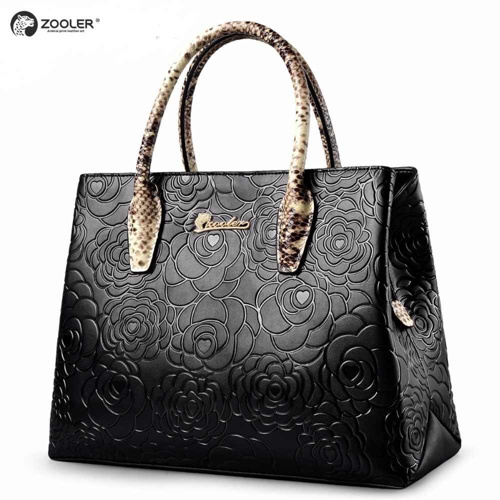180b251327ca Элегантный узор пояса из натуральной кожи плакаты с изображением женских  сумочек ZOOLER сумочка женская сумка коровьей