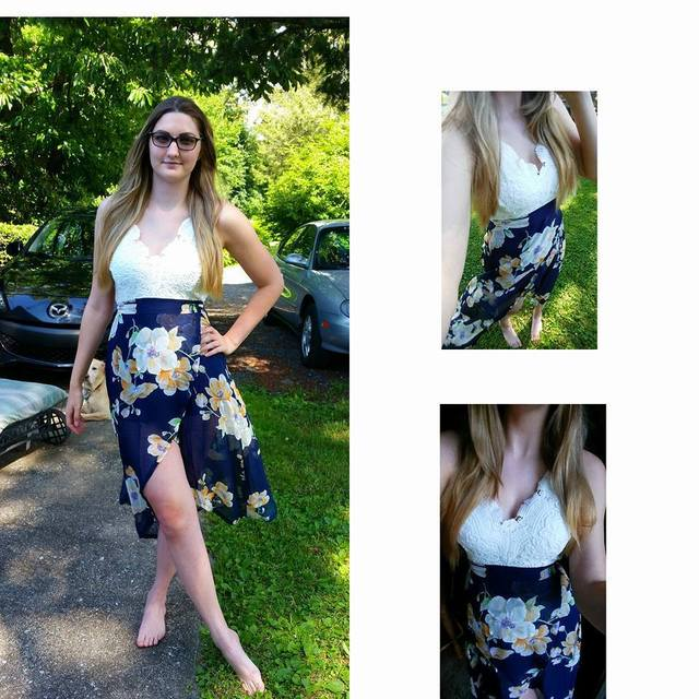 VITIANA 2017 Summer Beach Vacation Dress Women White Lace Chiffon Print Patchwork Clothing V Neck Halter Sexy Party Dresses