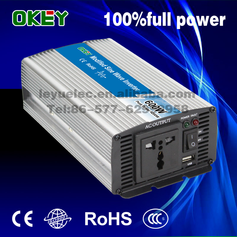 LEYU 600w 1200w power inverter DC 12V to AC 220v 230V modified sine wave