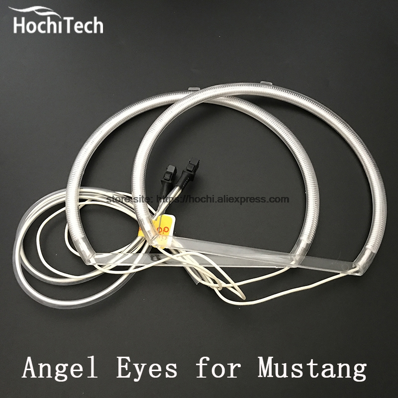 HochiTech Excellent CCFL Angel Eyes Kit Ultra bright headlight illumination for ford mustang 2010 2011 2012