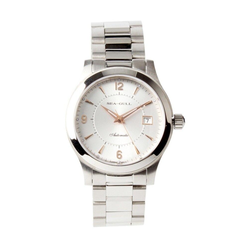 Mewa różowe złoto wskazówki nakręcanie wystawa powrót ST2130 ruch automatyczny męski zegarek biznesowy 816.351 w Zegarki mechaniczne od Zegarki na  Grupa 1