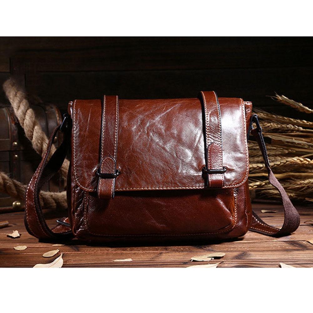 Genuine Leather Vintage Men Bag Briefcase Shoulder Bags Brand New Business Men's Messenger Bags Crossbody Bag