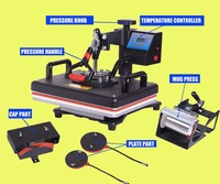 5 in 1 Heat Press /Thermal Printer Sublimation For Tshirt/Mug/Cap/Phone Cases/heat transfer/Sublimation/Heat Press Machine