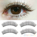 10 Pairs Soft Natural Cross Handmade Eye Lashes Makeup Extension False Eyelashes 2SRV