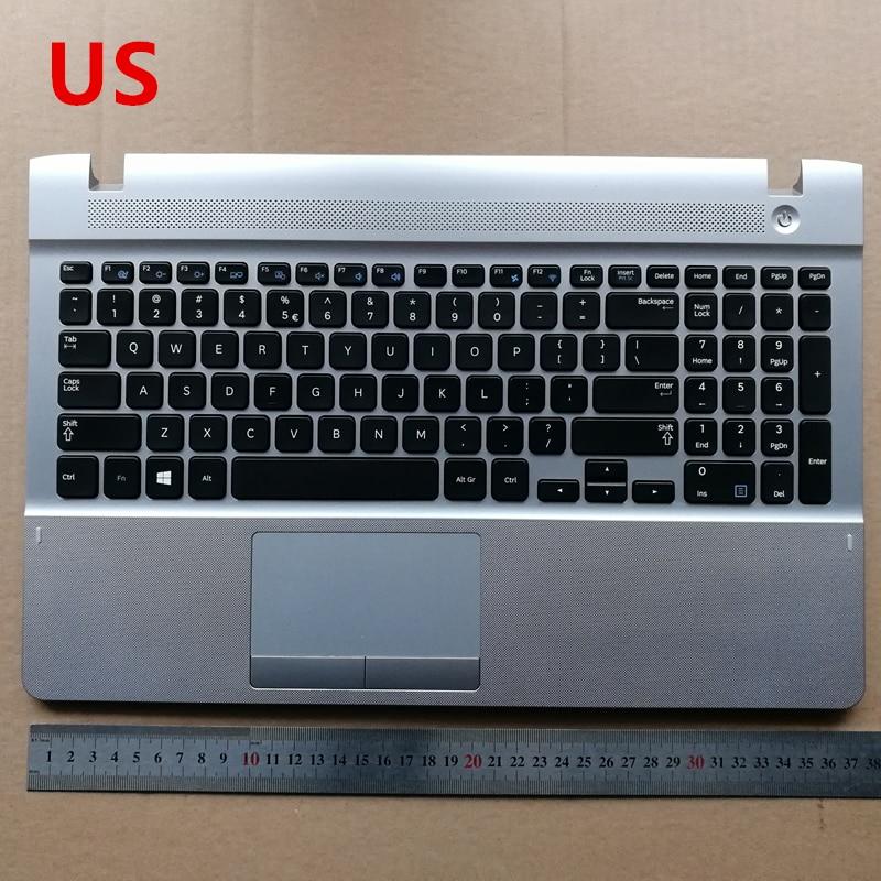 US New laptop keyboard for samsung NP300E5E 275E5E 270E5E 270E5V with Palmrest and Touchpad English sliver