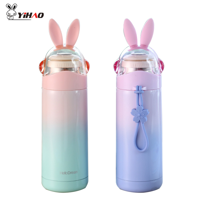 YIHAO 350ML Hot Quality Hot Sale Fun Rabbit mug Cute Student Cup 304 Vacuum Stainless Steel Portable Cartoon Cup