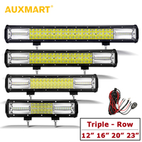 AUXMART 3 Row 12 16 20 23 LED Light Bar Slide Mount 12V 24V Offroad Driving Light ATV Work Lamp for Truck PickUp RZR 4X4 SUV