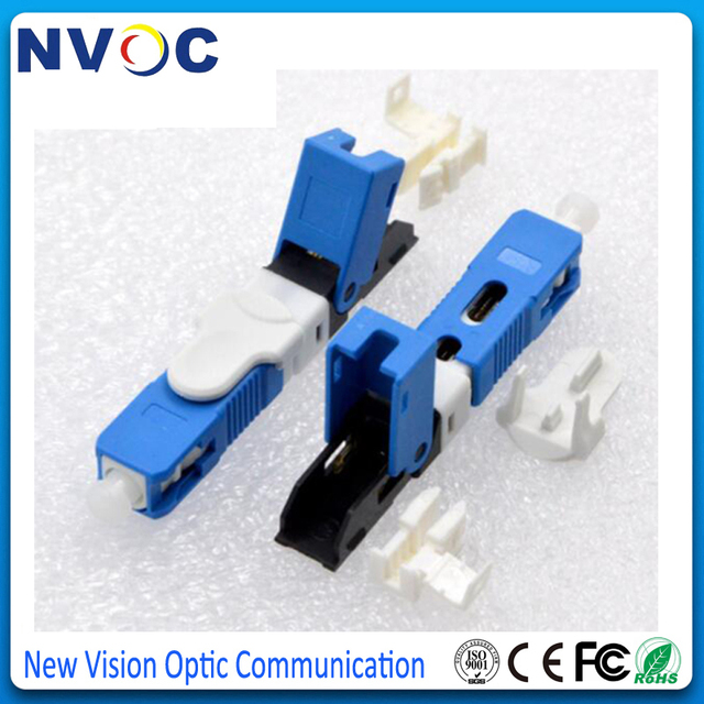 100Pcs/Lot,FTTH SC UPC Optical Fiber Quick Connector SC PC FTTH Fiber Optic Fast Connector Embedded Type ESC250D SCUPC Connector