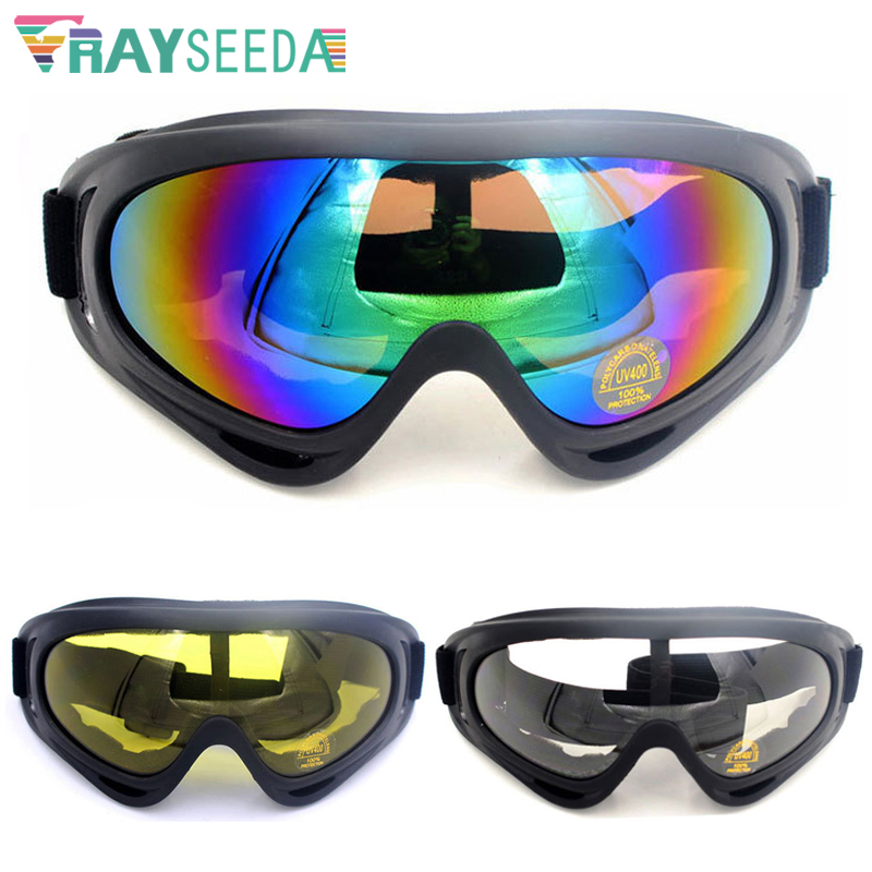 Rayseeda Winter Sports Skiing Glasses Anti-fog Windproof Dust-proof Snow Ski Goggles Eyewear For Men Women Skate Eyes Protection