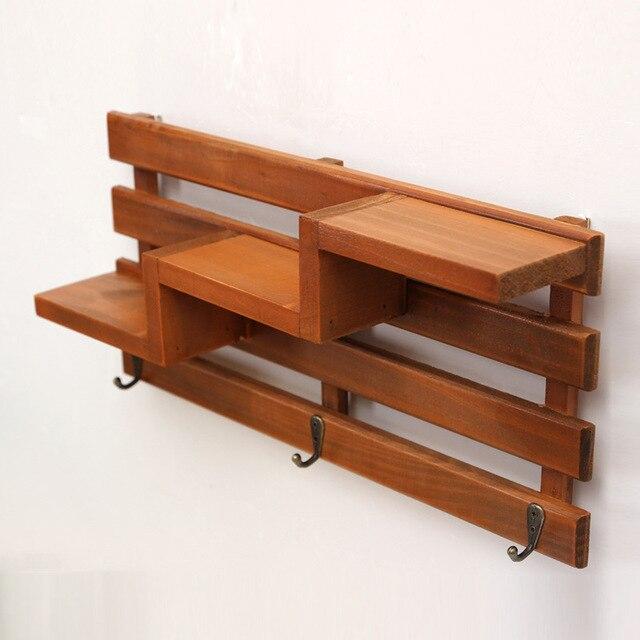 Handmade Wood Boxes Cargo Organizer Storage Box Simple Small Key Hanging  Storage Case Phone Racks Wood