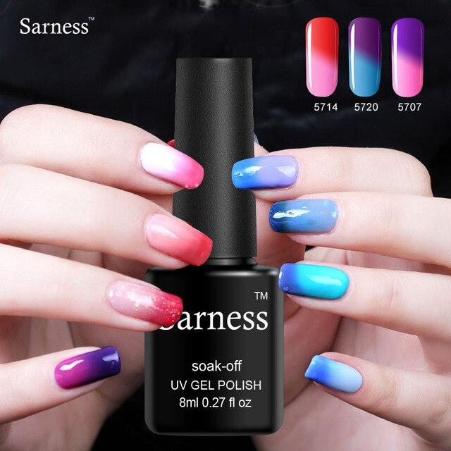 Sarness Nail Gel Lacquer Temperature Change Color Nail Art Gel Paint ...