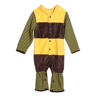 Newborn Baby Rompers Winter Flannel Stitch Bee Baby Boy Clothes Jumpsuit Costume Baby Girl Costume Animal