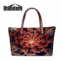 Dispalang Promotion Female Shopping Tote Bag Floral Flower Handbag For Women Over Shoulder Bag Top Handle