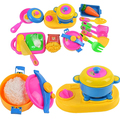 17Pcs Baby Children Early Educational Tool Simulation Kitchenware Tableware Toys 09WG