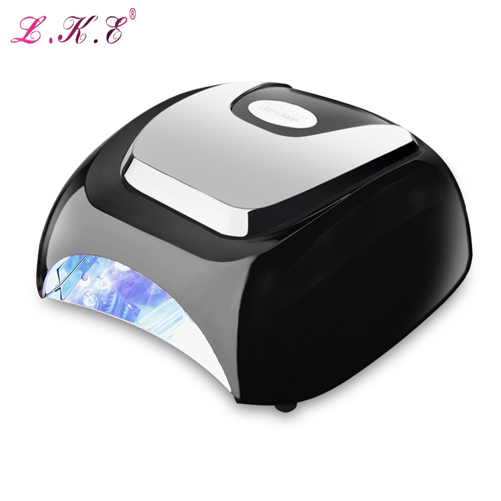 LKE 48W Nail Dryer White LED Drying Nail Gel Polish Equipment Manicure Salon Nail Art Tools with Auto Sensor Nail Varnish Lamp