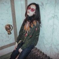 Новая версия 2018 с крупными блестками вышивка бисером комплект свободные летучие мыши Показать женский F0975 свитер