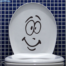 ZOOYOO Smile Face Toilet Wall Sticker Funny Wall Decals Creative Design Toilet Seat Stickers Home Decor flower rattan butterfly design toilet waterproof wall sticker