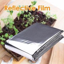 210x120 см серебряная светоотражающая пленка для стен, для растений, для сада, для теплицы, листы из фольги, эффективно увеличивают рост растений