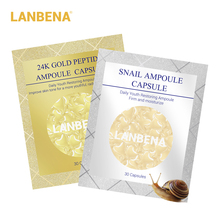 LANBENA Snail Moisturizing Ampoule Capsule Facial Cream + Wrinkles Eye Serum acne Treatment Anti-Aging Beauty 60pcs