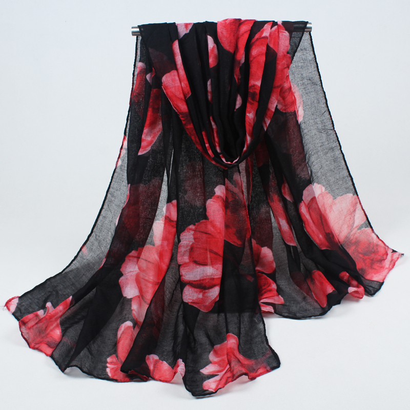 new arrival 180*90cm High quality Print flowers Style Thin Section the Silk Floss Women Scarf Shawl BLS022