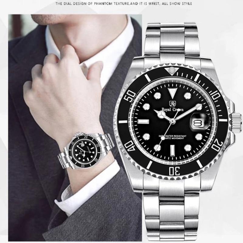 Royal Crown diver watch 3663M Italy brand Diamond Japan MIYOTA oyster perpetual diver relogio masculino невидимки royal diamond заколка