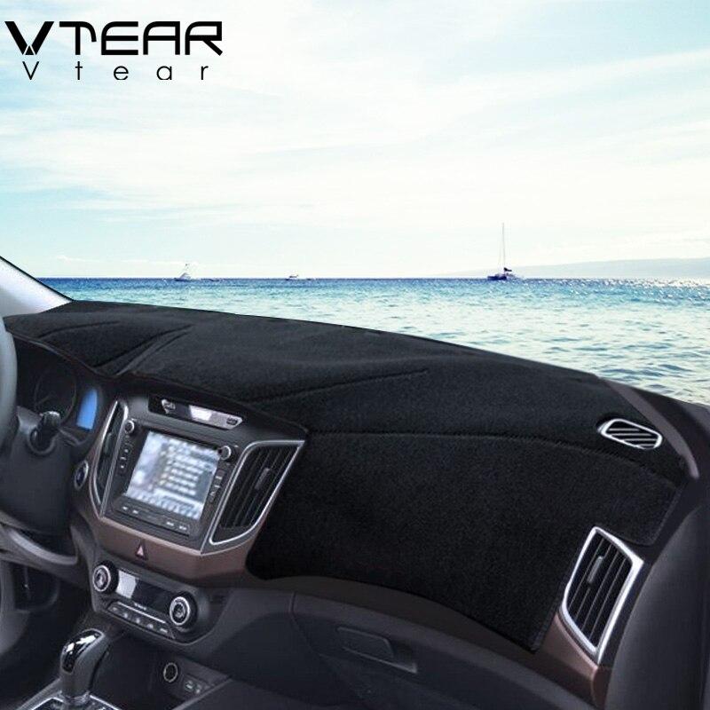 Vtear For Hyundai Creta ix25 dashboard Protective Mat Shade board styling Interior Refit Anti-Slip Mat products accessory 2016 коврики в салонные ниши синие ix25 для hyundai creta 2016