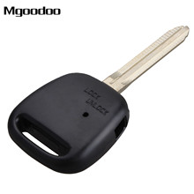 Mgoodoo 1 Side Button Replacement Fob Remote Key Shell Case Cover Blade For TOYOTA Carina Estima Harrier Previa Corolla Celica