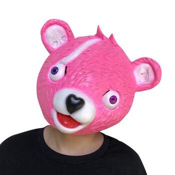 pretty nice 289ba ee263 Women Cute Bear Head Mask Halloween Latex Adults Masks Cosplay Costumes Men  Full Face Masks Fancy