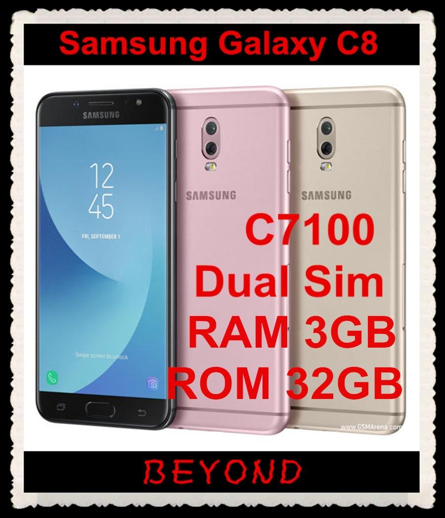 Samsung Galaxy C8 C7100 Original Unlocked GSM LTE Android Dual Sim Mobile Phone Octa Core 5.5