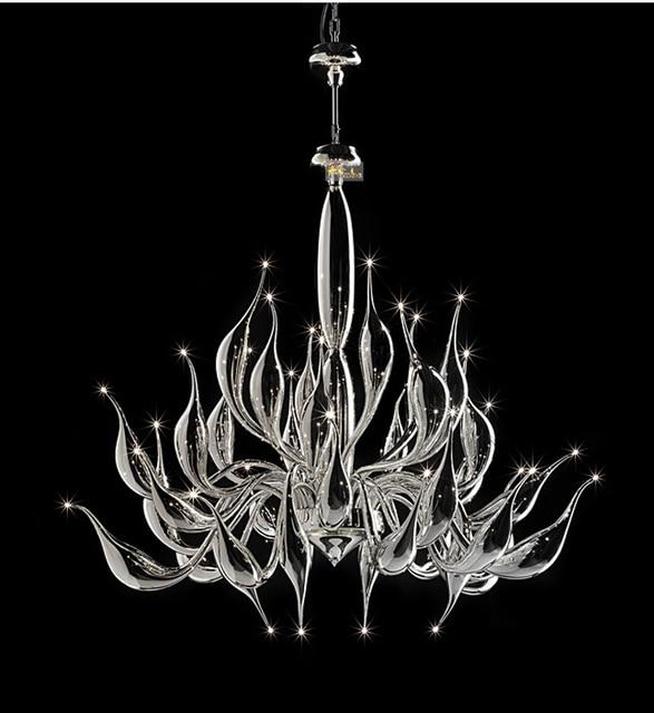 Italia Cisne lámpara moderna Murano Candelabros cristal creativa del ...