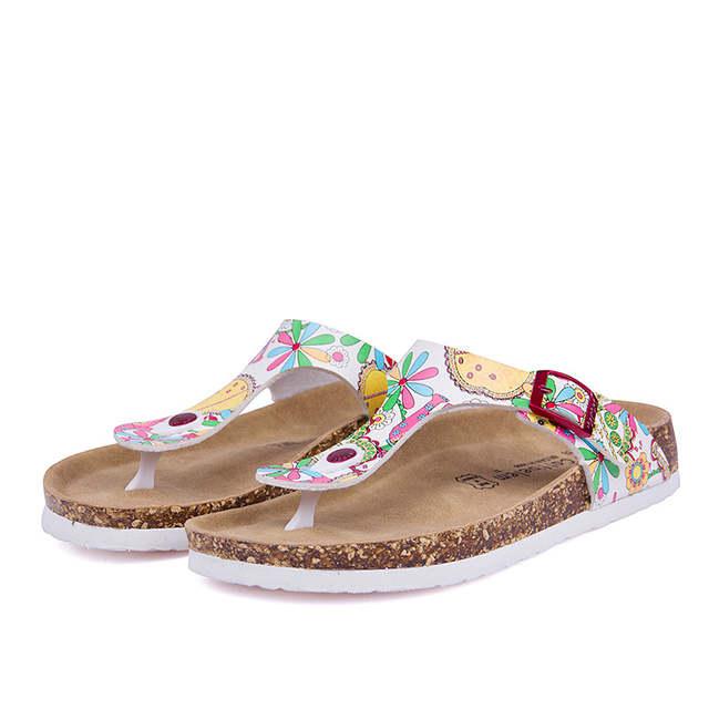 9ca94ccf1779 Online Shop 100% Cork New Summer style Fashion Women Flats Slippers unisex  Beach Shoes Women Sandals Black white brown Flip flops size 35-43