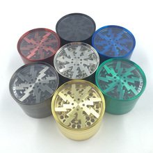 New Coolest Design Lightning Shaped 4 Layers Smoking Weed Herb Grinders Tobacco Cigarette Quality Crusher Accessories