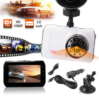 1080P Full HD 170 Degree Dash Cam 3 0 LCD Night Vision Dashboard Camera Recorder Car