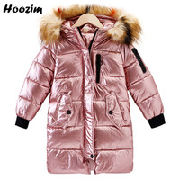 Winter Kids Outerwear Fashion Faux Fur Cap Jacket For Girls 10 11 12 Years Cool Parka Children Autumn Thick Long Coat For Girls