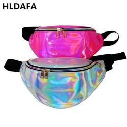 HLDAFA New Holographic Fanny Pack Laser Waist Packs Heuptas Hip Bag Women's Waistband Banana Bags Waist bag Unisex bolso cintura