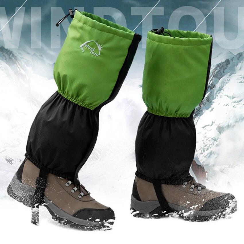 Delle Donne dei nuovi Uomini In Pile Impermeabile Neve Legging Ghette Outdoor Sport Escursionismo Arrampicata Trekking Ciclismo scaldamuscoli Ghetta VK037