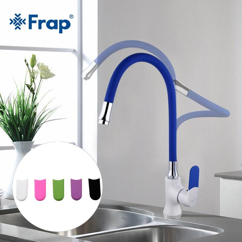 Frap Multi-цвет силикагель нос любое направление Кухня кран холодной и горячей воды смеситель Грифо Cocina белый спрей краски F4034