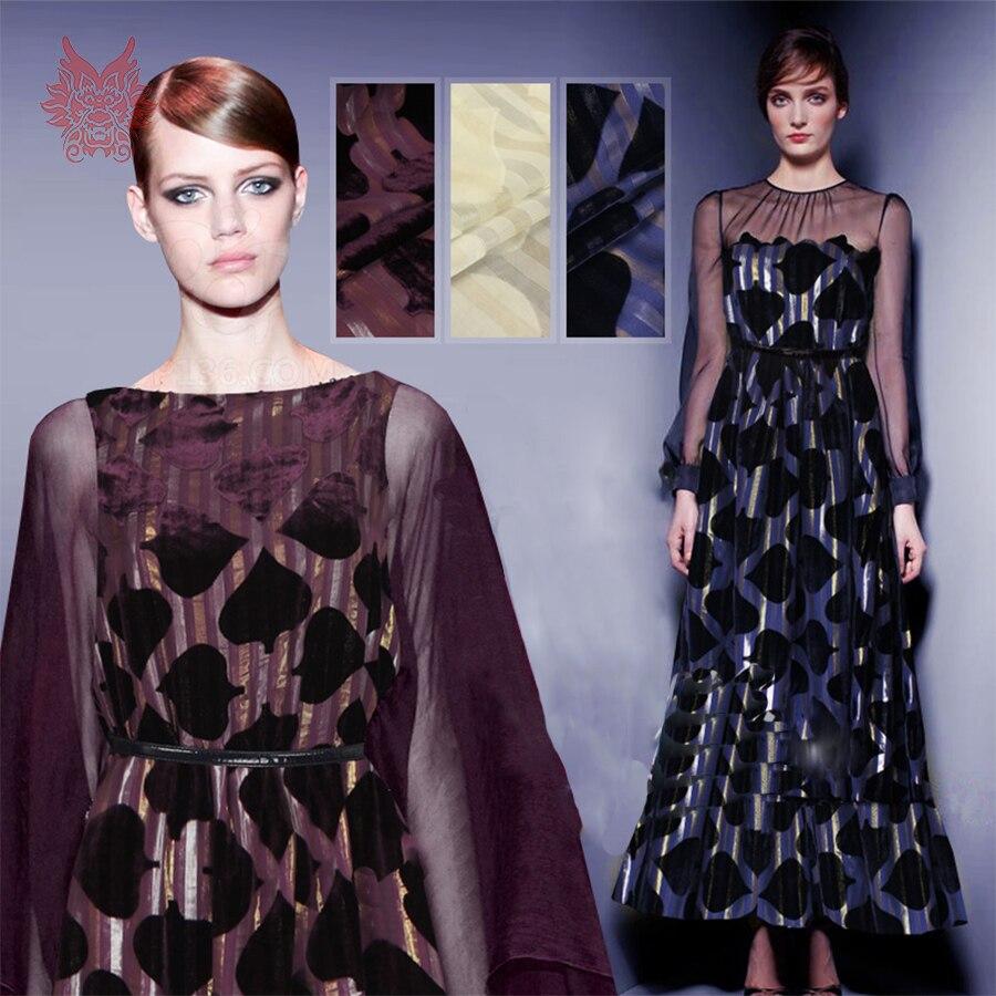 Pure soie georgette fond tissu coeur surélevé velours tissu pour printemps automne robe 16mm tela tejido livraison gratuite SP3711