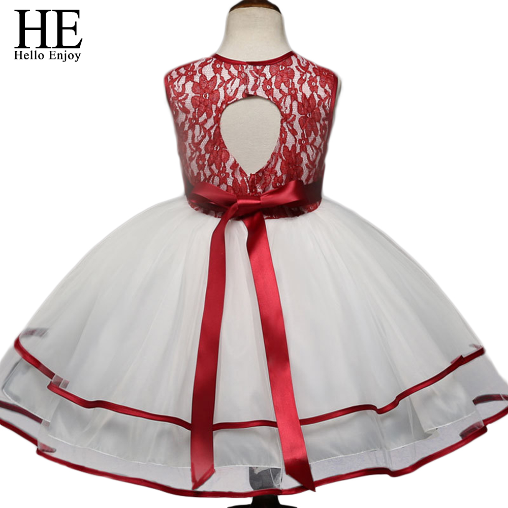 Girl Dress Princess Christmas Lace Kid Christening Events Party Wear Children Baby Clothes new year dresses for girls 4-10 years christmas girl in costume elsa dress dress up the new year children s dresses dress girl for 10 years wearing lace robe girl