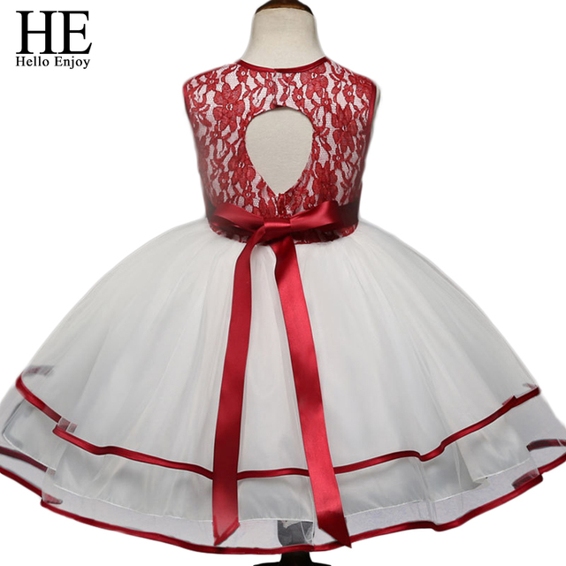 5d756cd74 Girl Dress Princess Christmas Lace Kid Christening Events Party Wear ...