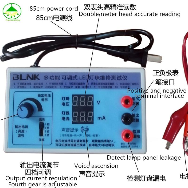 Free Shipping AC 220V EU Plug Screen Led Backlighting LED Tester LCD TV LED Backlighti Tester Lamp Beads Light Board LED Light
